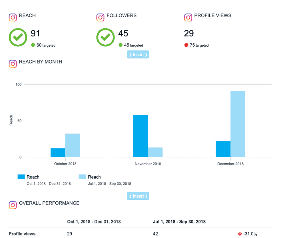 Report On Paid And Organic Social Media Efforts In Minutes