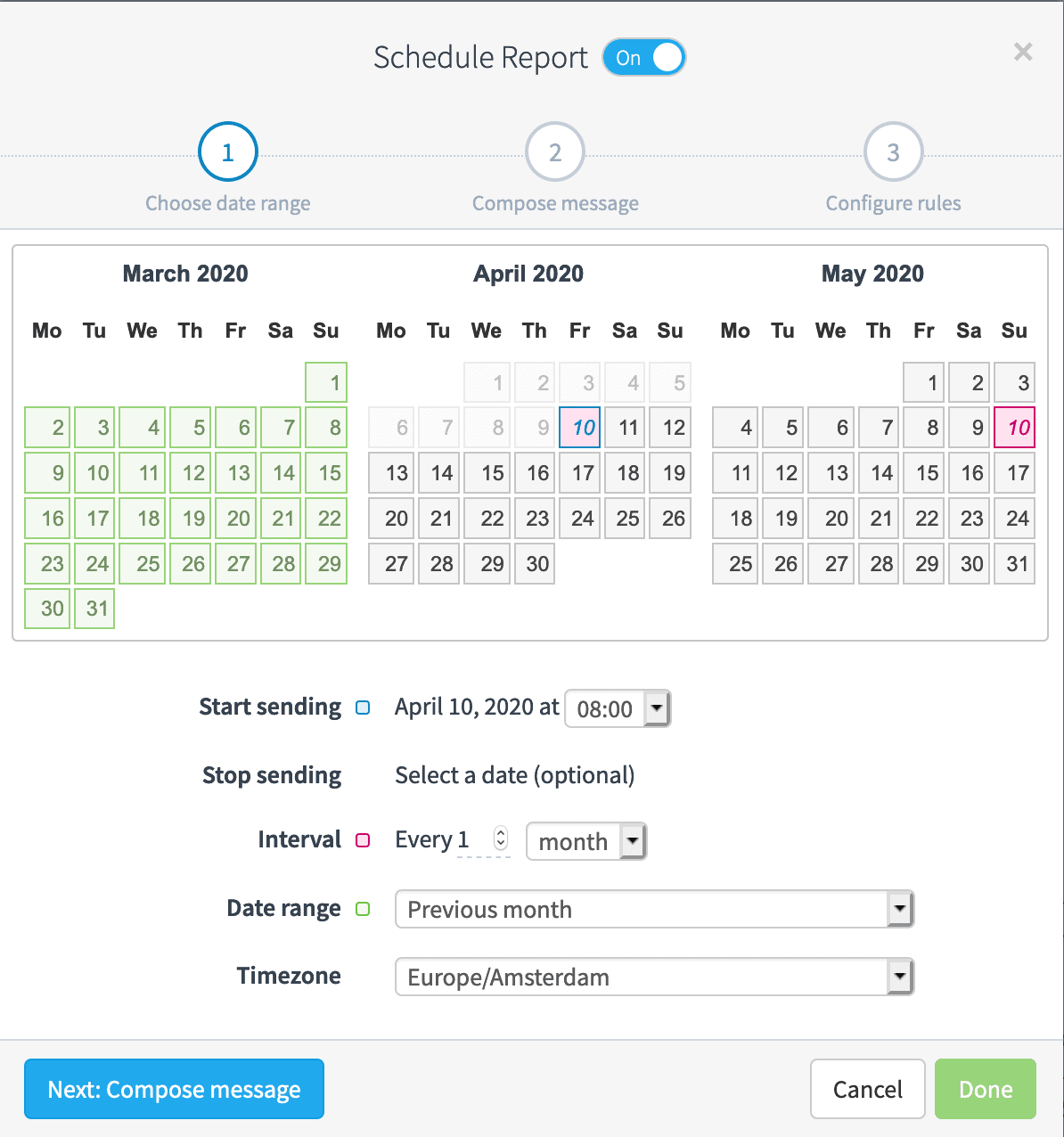 Automated Report Scheduling